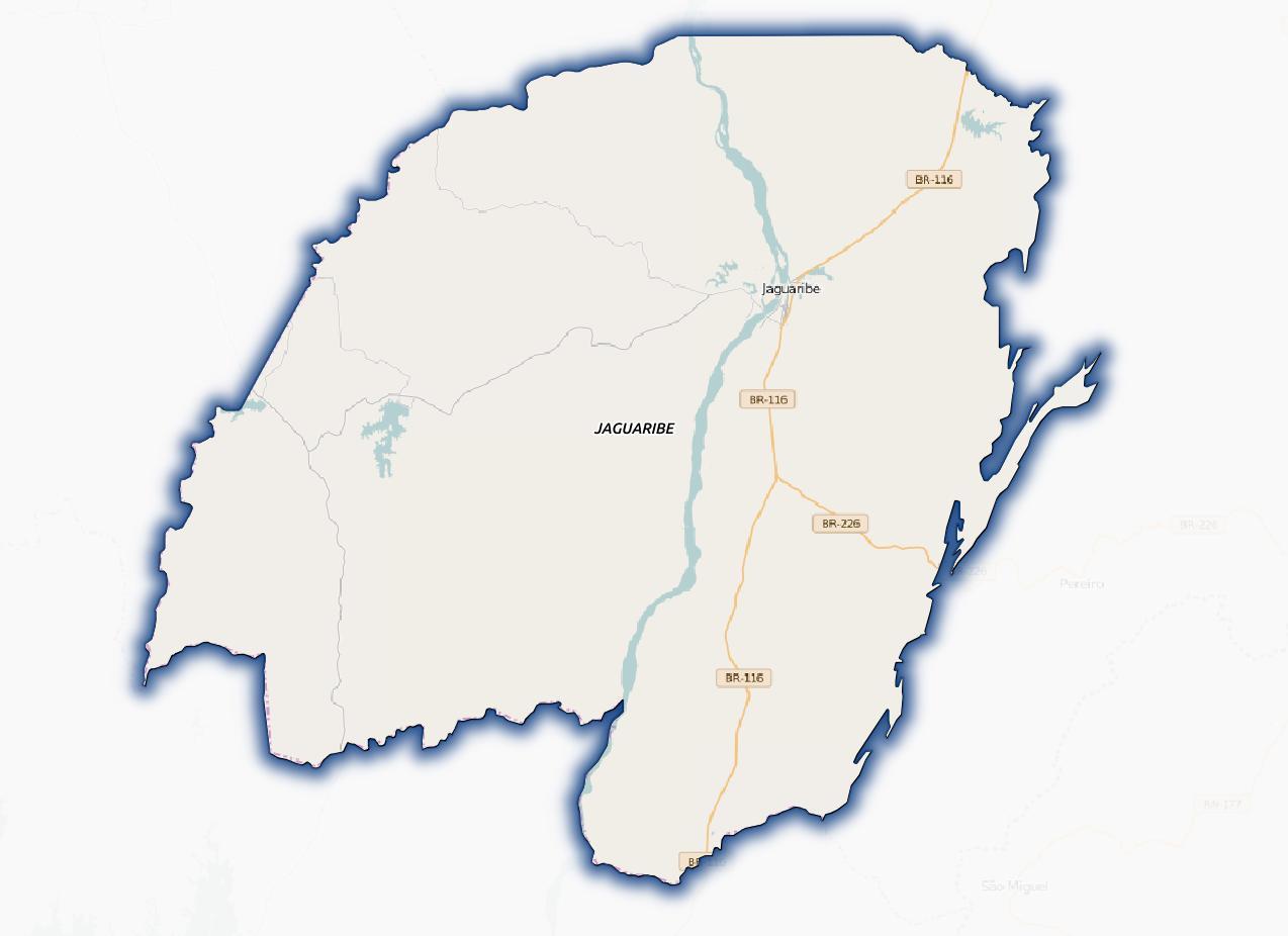 Esse é o mapa atual do município no OSM